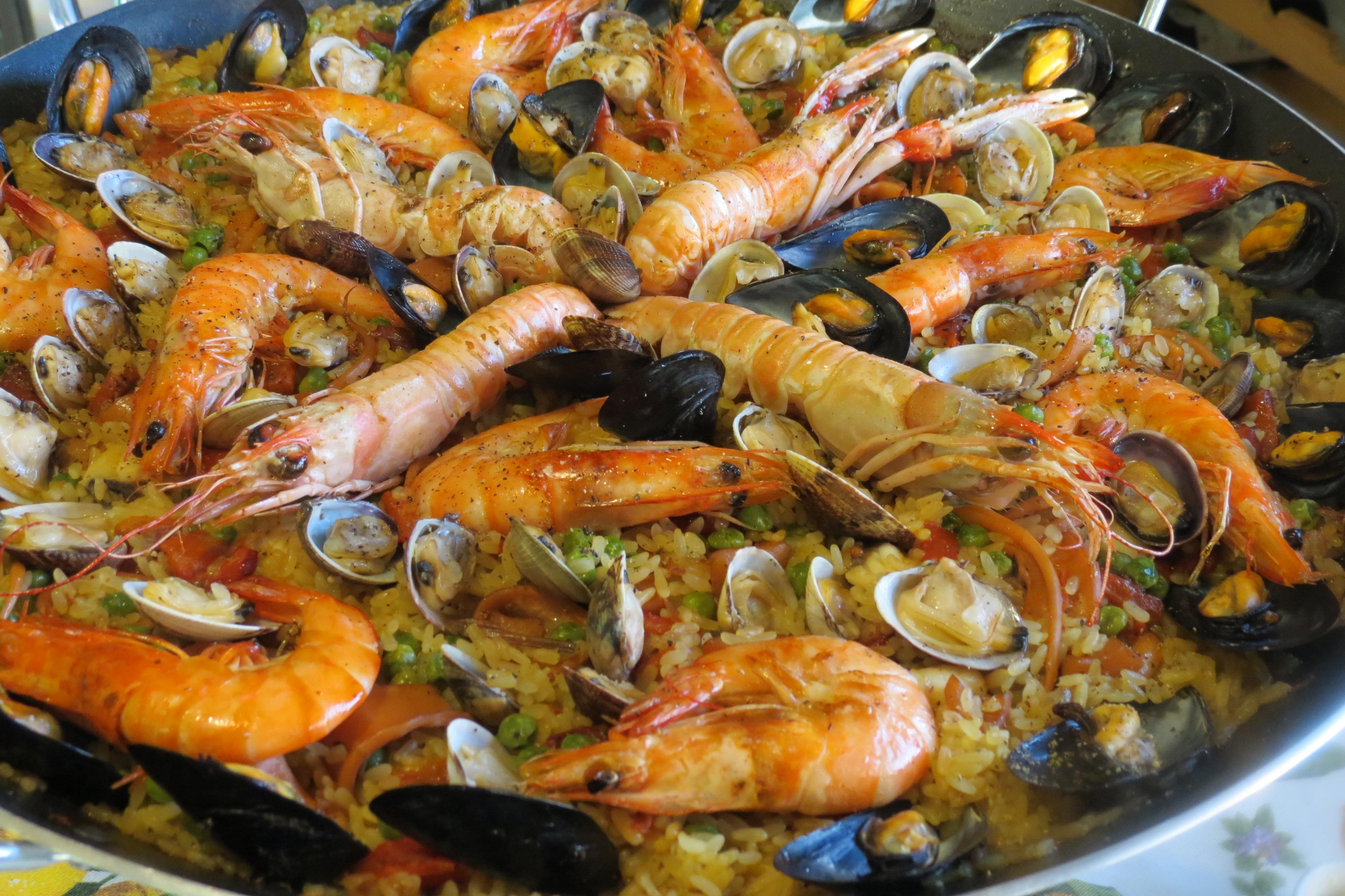 vera paella di pesce | La cucina di Lalla